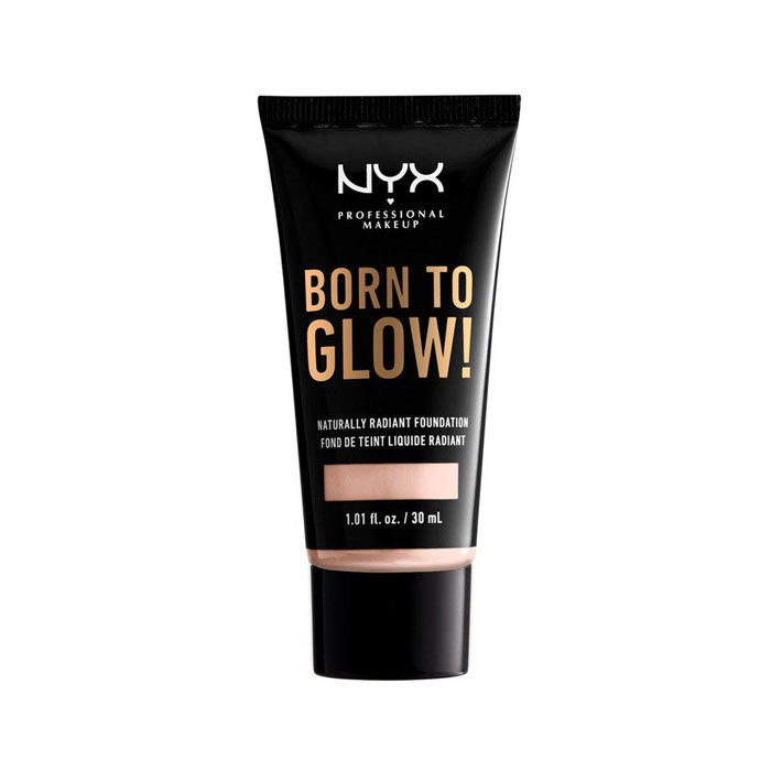NYX Born To Glow Naturally Radiant Foundation 30ml - Light Porcelain